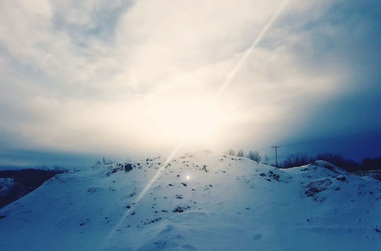 Snow Winter2018 Beauty Photography Lighting Edit EyeEm Snow Bird Cold Temperature Sunset Winter Mountain Technology Sky Cloud - Sky
