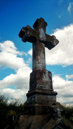 Cross Christianity Clouds And Sky Concrete Old Contrast Holy Sacral Pain For Atheist