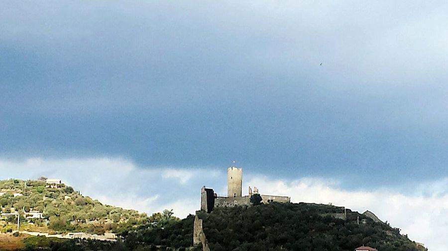TheEndOfSummer Autumnsea Castle Ruin Mediterranean Sea Stormy Weather Storm Is Coming Autumniscoming