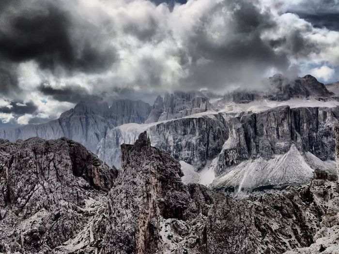 Rocks and Clouds in the Dolomites at Ciampeijoch 2366m Dolomites, Italy Mountains OpenEdit Taking Photos EyeEm Best Shots IPhoneography Eye Em Nature Lover Cloud_collection  Walking Around