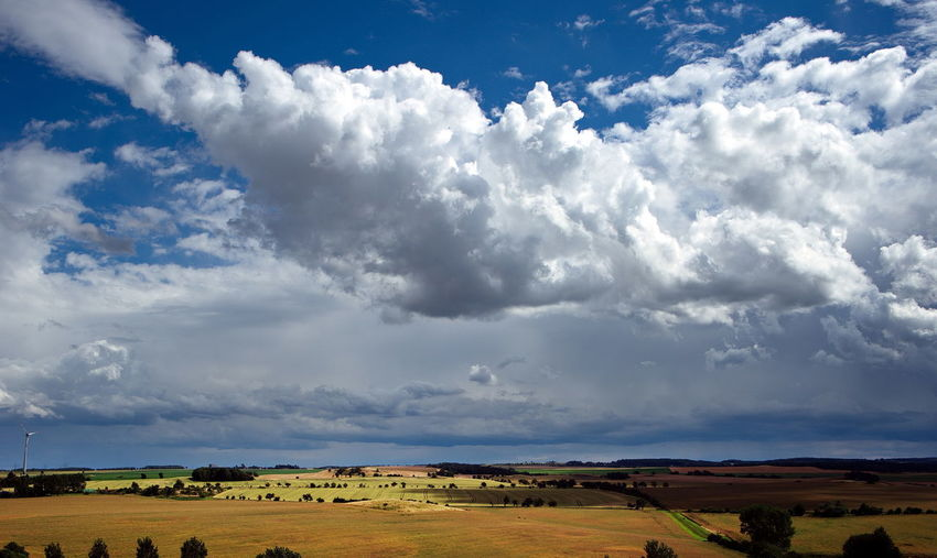 Agriculture Beauty In Nature Cloud - Sky Day Environment Field Idyllic Land Landscape Nature No People Non-urban Scene Outdoors Plant Rural Scene Scenics - Nature Sky Tranquil Scene Tranquility Tree