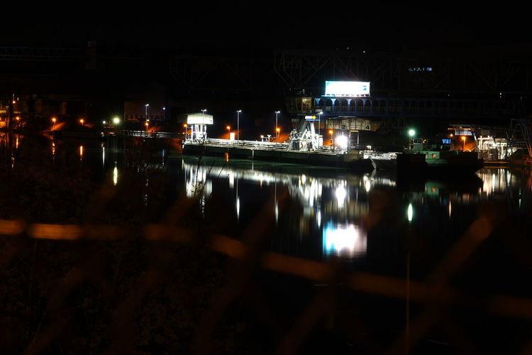City Harbor Illuminated Night No People Outdoors Reflection Ship Sky Transportation Water