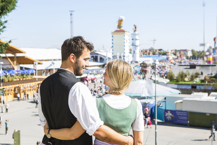 Rear View Of Couple At Oktoberfest