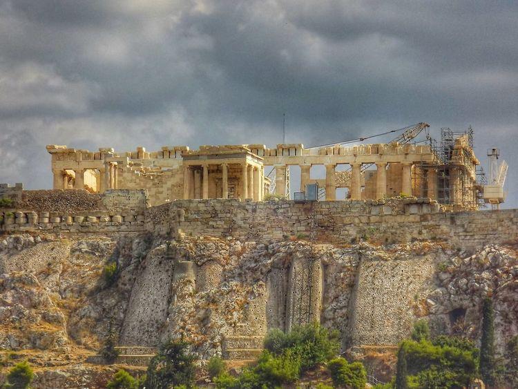 Acropolis of Athens Acropolis, Athens Architecture Greece Acropole Athenes Grece Colonnes Cloudy Nuageux Nuages Clouds Grey Sky