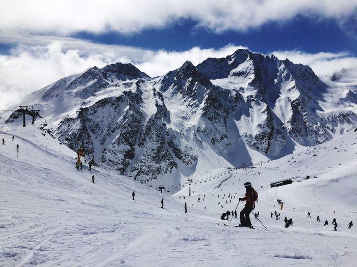 Skiing Winter Wintertime Winter Wonderland Austria Sölden Skigebiet