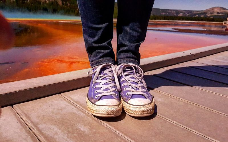 Coloroflife Grandprismaticspring Yellowstone National Park Converse Road Trip Hiking Adventures Adventure Photography Outside The Box Out Of The Box