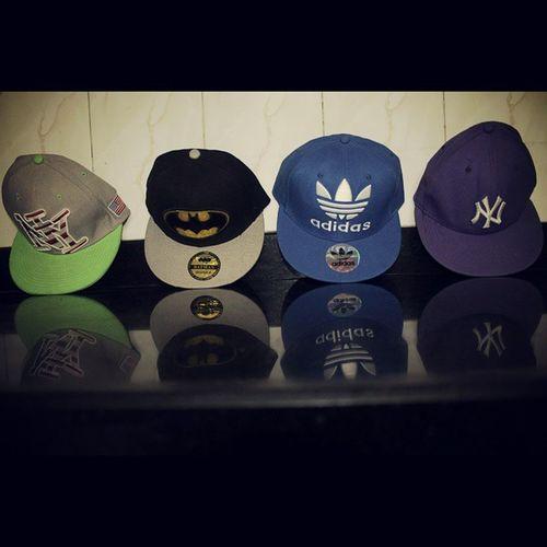 My Favs  Flatcaps Snapbacks @addidasoriginals Batman NY ilovethem❤?