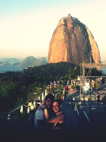 Couple Hanging Out Taking Photos Riodejaneiro