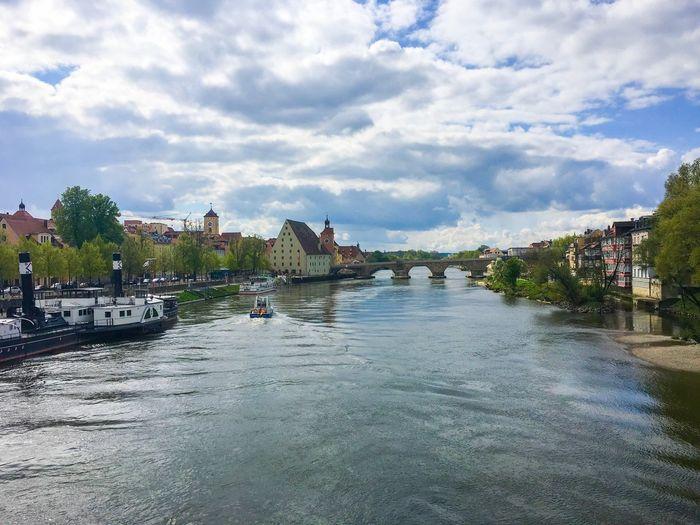 River Blue Sky Ship