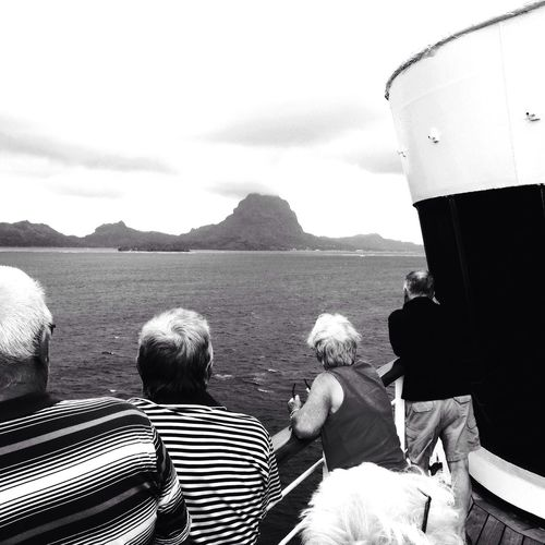Bora Bora View From Ship Great Views Blackandwhite