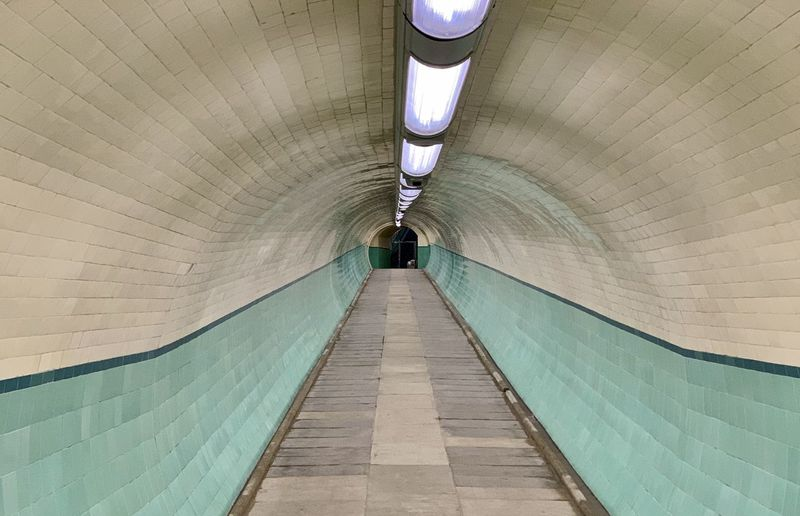 View of subway tunnel