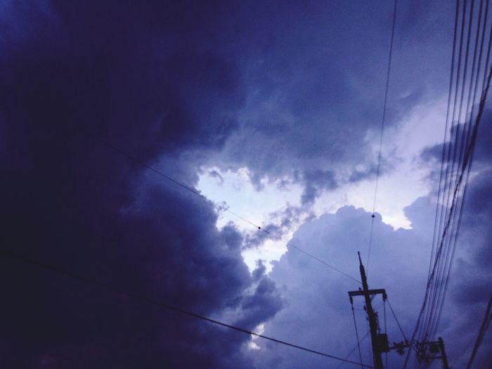 Dark Clouds Clouds Looming Before Rain Contrast