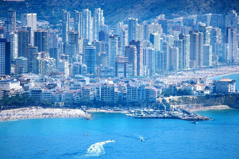 City Silouette Benidorm Urban Architecture Landscapes With WhiteWall Benidorm Spain Urbanlandscape Sightseeing Sight Seeing Things I Like Mediterranean Sea Urban Beach Beachscape