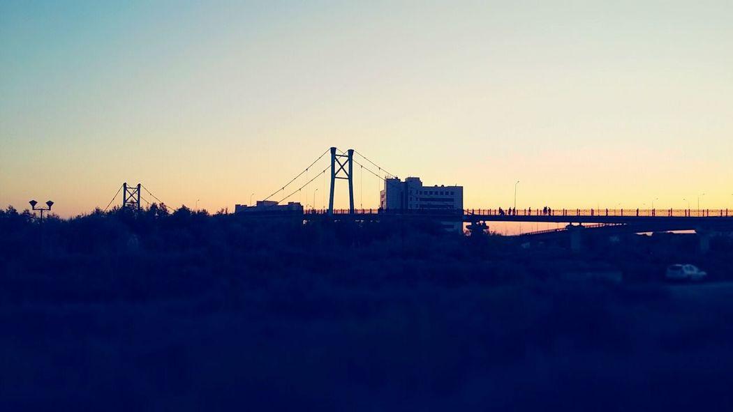 Atyrau KZ End Of The Day Bridge