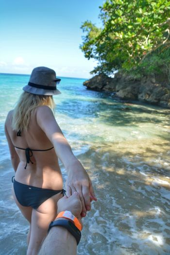 Only Women Rear View One Woman Only Sea Relaxation Young Adult Water Adult Beach One Person Full Length Adults Only One Young Woman Only People Beauty Young Women Outdoors Beautiful Woman Day