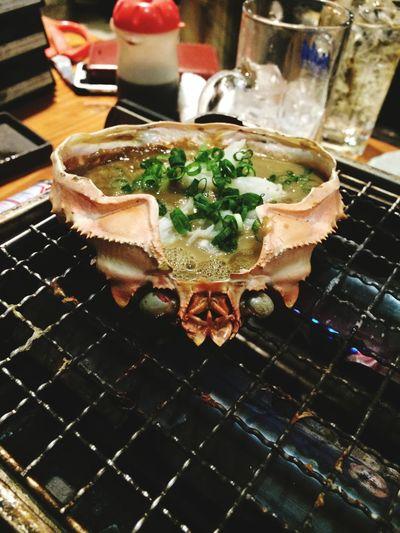 かに味噌甲羅焼き♡ かに地獄 Shimbashi , Tokyo,Japan