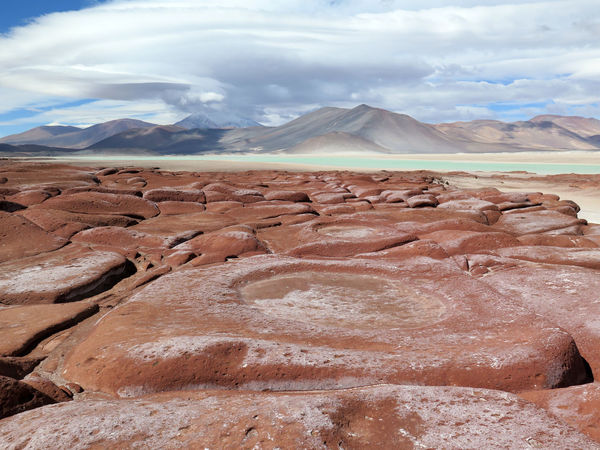 one of the most amazing places to visit around the Atacama desert Atacama Desert Beauty In Nature Chile Cloudy Dramatic Landscape Extreme Terrain Geology Laguna Landscape Mountain Mountain Range Nature Naturelovers Outdoors Piedras Rojas Red Rocks  Rock Formation Tranquility Travel Destinations Turquoise Turquoise Water The Great Outdoors - 2017 EyeEm Awards This Is Latin America