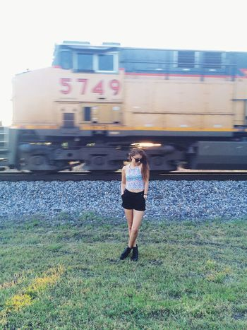 🌞🌻🚊 Today's Hot Look Getting Inspired Sunny Day Train Adventure Be Happy Model Summer