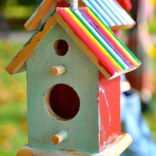 Micro Community Bird House Colours Rainbow House Bird Home