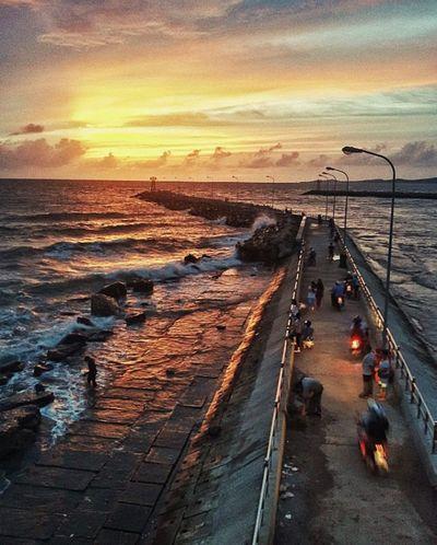 Sea Sunset Water Cloud - Sky