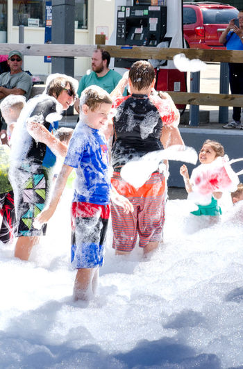 aUG 5, 2017 bUCHHANNAN mi usa; Active kids have fun in the sun during the Thrill on the hill event that takes place every summer on the main street of this small Michigan town. wild wet fun! Children Event Happy Kids Messy Michigan Sliding Summertime USA Water Slide Bathing Suits Bble_stuff Childhood Day Editorial  Fun Man Made Object Rafts Shorts Summer Thrill On The Hill Water Wet