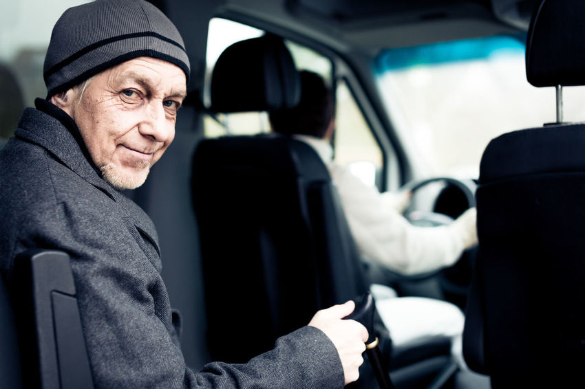 Lifestyle Nurse Retirement Home Transportation Assisted Living Car Female Lifestyles Male Mature Women Men Old Old Age On The Road Paratransit Retirement Senior Senior Adult Senior Men Van Women