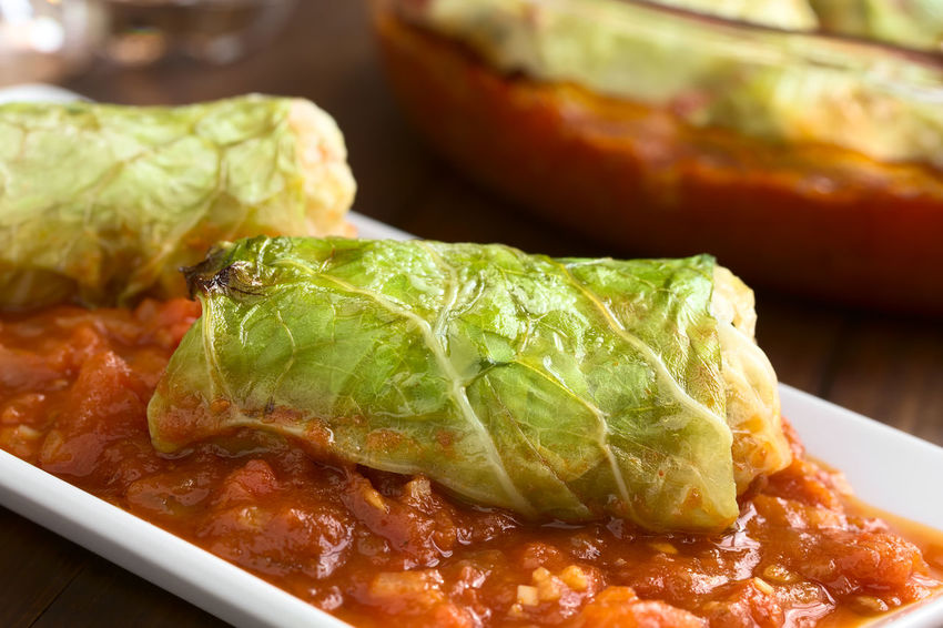 Vegetarian baked stuffed savoy cabbage roll filled with wholegrain rice, pepper, onion and carrot, served on tomato sauce on plate, photographed with natural light (Selective Focus, Focus on the front of the roll) Filled Homemade Homemade Food Meal Roll Rolled Up Stuffed Tomato Sauce Vegetarian Vegetarian Food Wrap Baked Cabbage Cruciferous Food Food And Drink Fresh Leaf Sauce Savoy Cabbage Savoy Cabbage Rolls Tomato Vegan Vegetable Wrapped