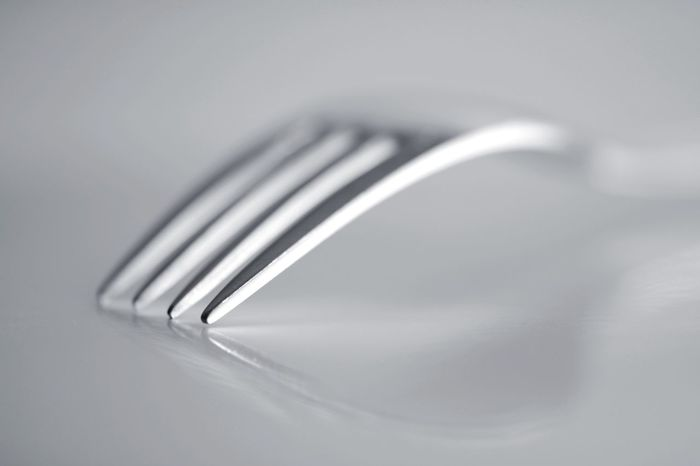 Fork macro with reflection Fork Kitchen Utensil Eating Utensil Metal Fork Household Equipment Silver Colored Indoors  Close-up No People Silver - Metal Still Life