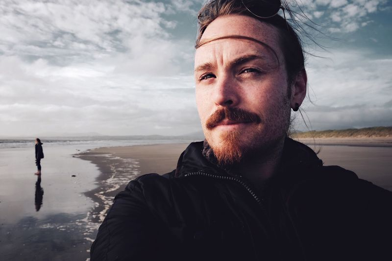 Self Portrait Man Beard Beach Beachphotography Beach Photography Nature Nature_collection People Person Landscape Landscape_Collection Sky Sky And Clouds Beach Life Sand Clouds Wales TCPM