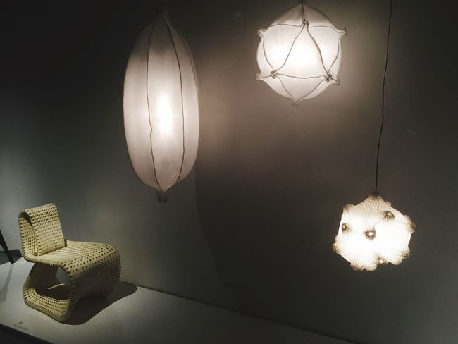 3 D printed chair and lamps by Benotat&Co is new Dutch Design in the exhibition Berlage Godfather of Dutch Design in the Berlage Beurs until May15.