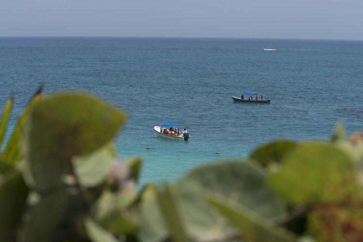 Cancun High Angle View Sea And Sky Sea View Sea View. Tulum , Rivera Maya.