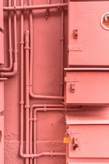 No People Full Frame Red Day Close-up Outdoors Backgrounds Hinge Architecture Pink Color Pink Experimental Photography Darkness And Light Street Photography City Architecture Minimalism The Architect - 2017 EyeEm Awards