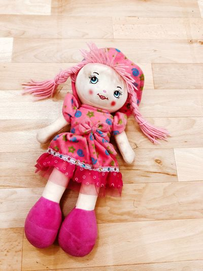 EyeEm Selects Wood - Material Hardwood Floor Indoors  Pink Color Doll Portrait