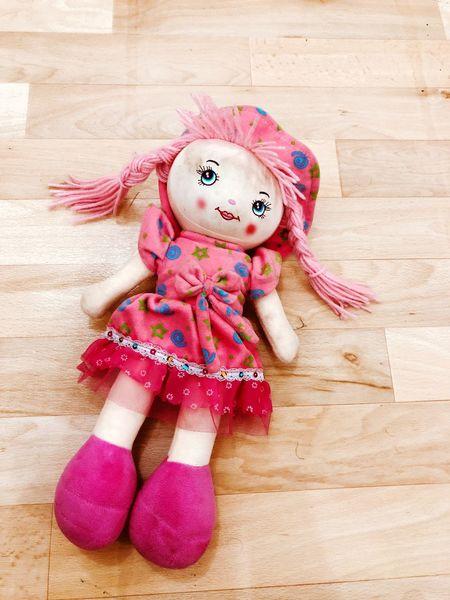 EyeEm Selects Wood - Material Hardwood Floor Indoors  Pink Color Doll Portrait