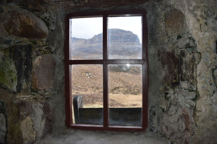 A View Suilven Scottish Highlands Window Bothy