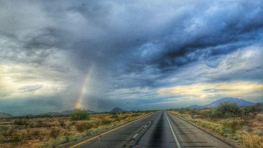 Sky Collection Arizona Rainbow On The Road