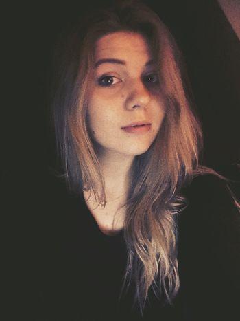 Simple Dark Dark Photography Blondgirl Polishgirl Blonde Dark Blonde Blue Eyes That's Me Today's Hot Look