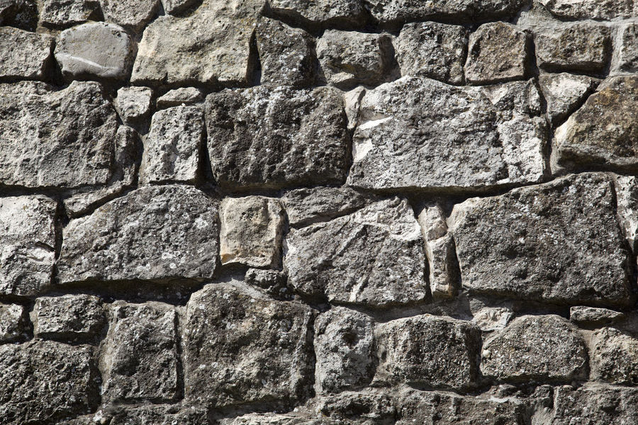 Old stone wall background. Rustic Aged Stone Architecture Background Backgrounds Built Structure Close-up Concrete Full Frame Grey Stone Masonry Masonrywall No People Old Old Age Pattern Rough Rustic Style Solid Stone Background Stone Wall Textured  Wall Wall - Building Feature