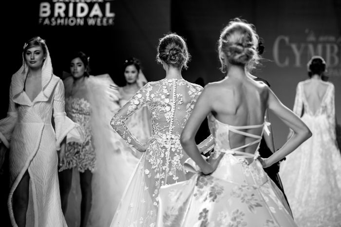 Barcelona Bridal Fashion Week 2017 Bridal Fashion Week 2017 Brides Cymbeline Adult Alta Costura Bridal Shop Bride Catwalkfashion Celebration Childhood Day Elégance Fashion Glamour Indoors  Life Events Model Novias One Person Pasarelas People Real People Wedding Ceremony Wedding Dress Young Adult