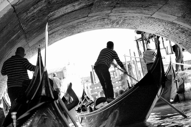Venice, Italy Famous Place Blackandwhite Black And White Travel Photography Blackandwhite Italy Italia Travel Destinations Venice Canals Bridge Nikon Water Gondola - Traditional Boat People Silhouette Nautical Vessel