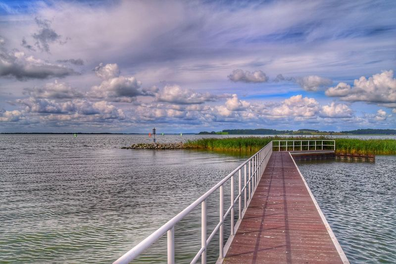 Usedom Cloud - Sky Sky Water Outdoors Day Nature Scenics Tranquil Scene Sea No People Beauty In Nature Tranquility The Way Forward Built Structure Horizon Over Water Architecture NIKON D5300 Landscape_Collection Landscape Baltic Sea Summer Achterwasser Ostsee