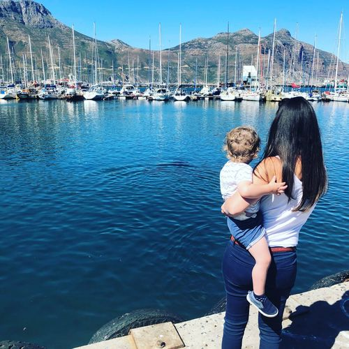 A look over the harbour in Hout Bay Water Two People Togetherness Love Lifestyles Emotion Nature
