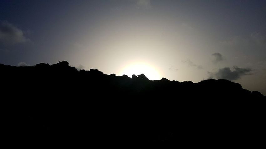 Silhouette Mountain No People Nature Landscape Beauty In Nature Outdoors Sky Rock Sun Sunlight Sunset Tropical Climate Tropiques Gwada  Guadeloupe Gwadeloupe