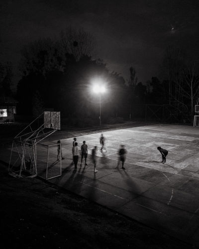 The Mobile Photographer - 2019 EyeEm Awards Sport Group Of People Playing Sky Nature Team Sport Real People Leisure Activity Men People Soccer Outdoors Playing Field Tree Plant Winter Sport Sports Team Silhouette Lifestyles Practicing