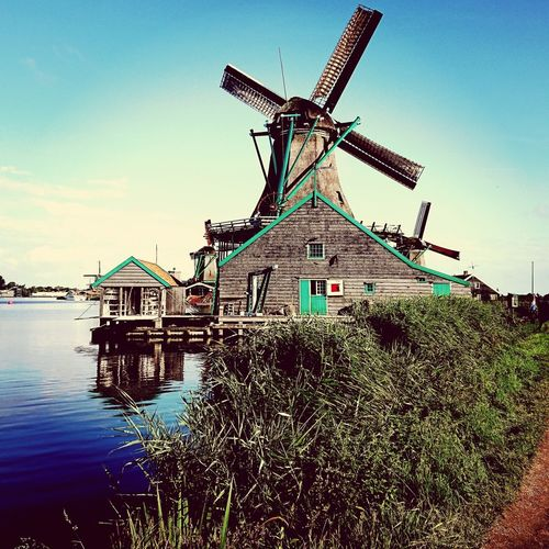 Zaandam windmills.. XZs Photography Nature Nature Photography Sonyxperiaxzs Sony XPERIA Takenwithxperia Backpacking Traveldiaries Windmill Wind Turbine Wind Power Traditional Windmill Water Sky Architecture