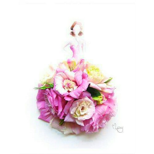 Good Idea Fantasy Artistic Fashion Art Flowers Flowers Dress 🌷 Flowers 🌹 Pink Rose Pictureoftheday Pictures