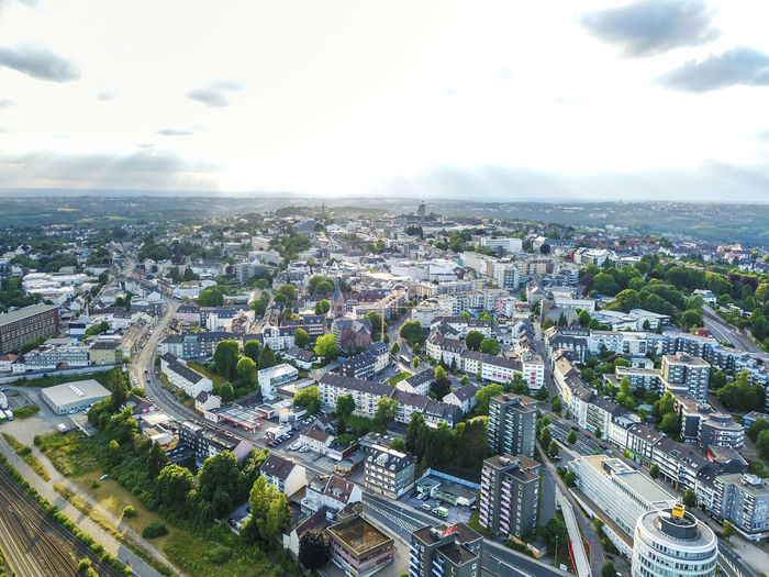 Bird Eyes View City DJI Mavic Pro Deutschland Drone  From My Point Of View From Above  Panorama Aerial View Architecture Building Exterior Built Structure City Cityscape Cloud - Sky Day Dji Dronephotography Germany High Angle View No People Outdoors Remscheid Residential Building Sky