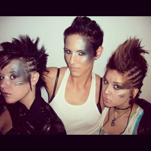 Our time period was the end of time. After the economic collapsed we would take cover at The MAC counter -TBT  Casalaveda Avedalasvegas Hairschool braids apocalypse