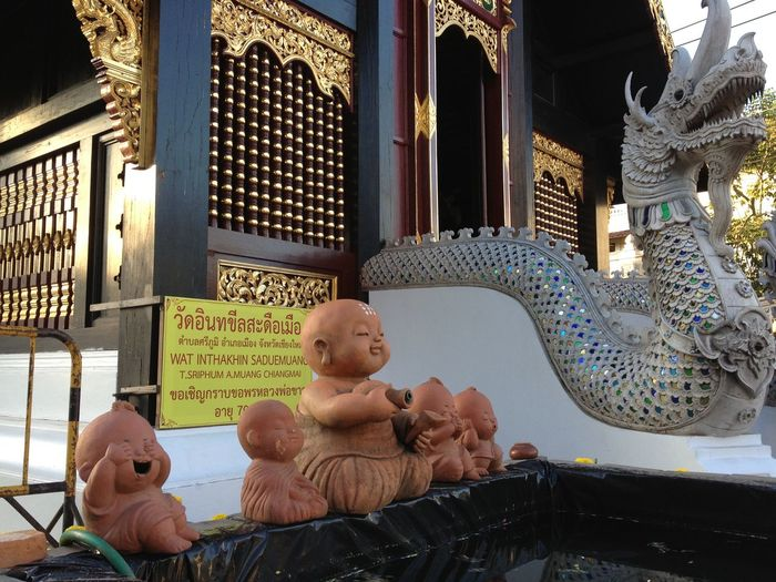 A Different Tale...laughing, Sitting And Meditating Baby Budhas Share Stories! Art Ceramic Art Chiang Mai | Thailand Cute Day Dragon Happiness From Within Laughing Buddha Leisure Activity Lifestyles Outdoors Outside Relaxation Telling Stories Differently Temple Neighborhood Map