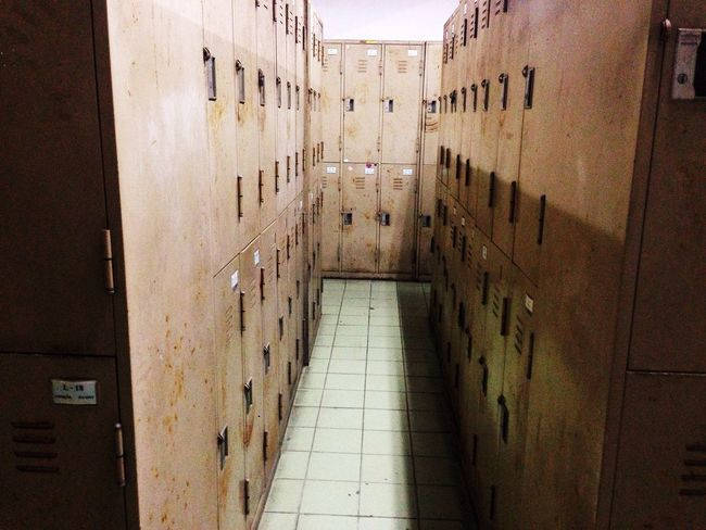 Locker Locker Room Room Architecture Built Structure Wall - Building Feature No People Building Wall Building Exterior Direction Day The Way Forward Outdoors Arcade The Past Corridor Sunlight Alley Old History Text Lighting Equipment